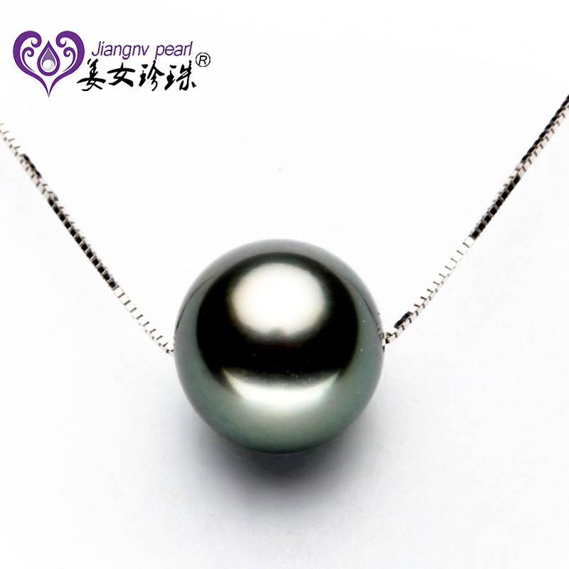 Jiangnv genuine pearl necklace k gold pearl tahitian black pearl necklace passepartout transport