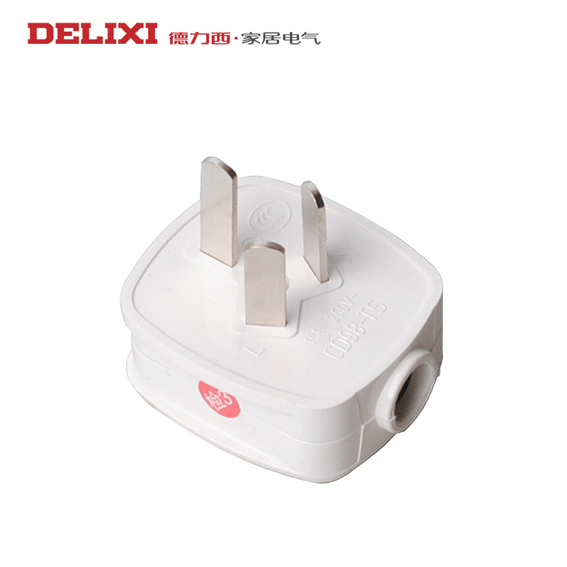 West germany plug the power cord with three holes 10a electric water heater triangle/3 pin plug 220 v