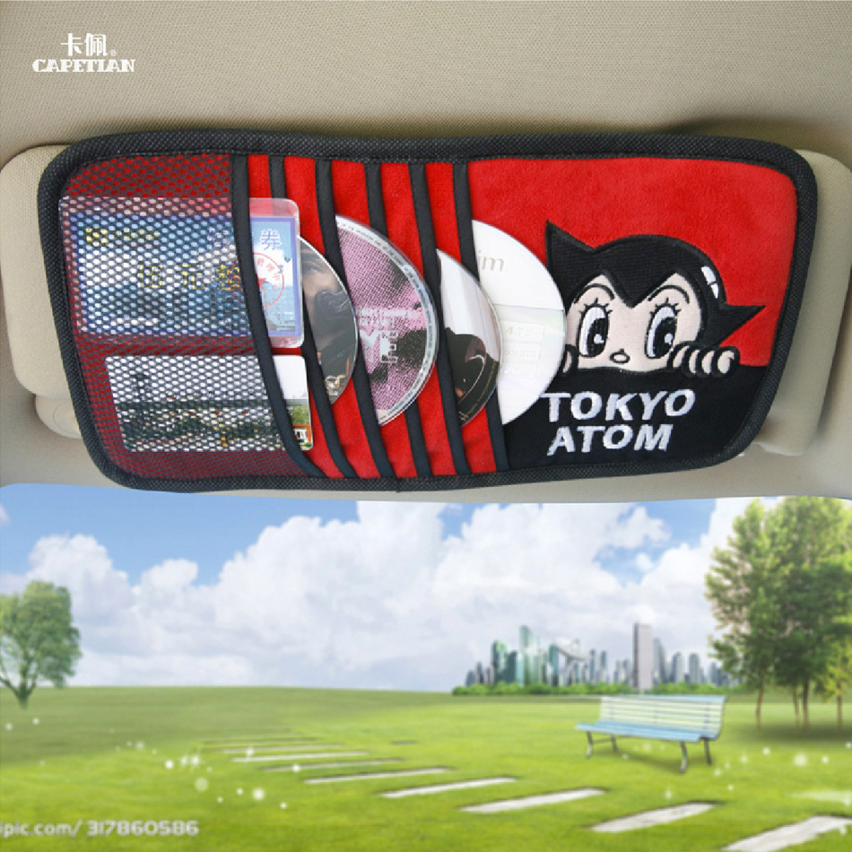 Astro boy cartoon car cd visor clip cd sets multifunctional optical disc with a chartered car cd disc storage bag