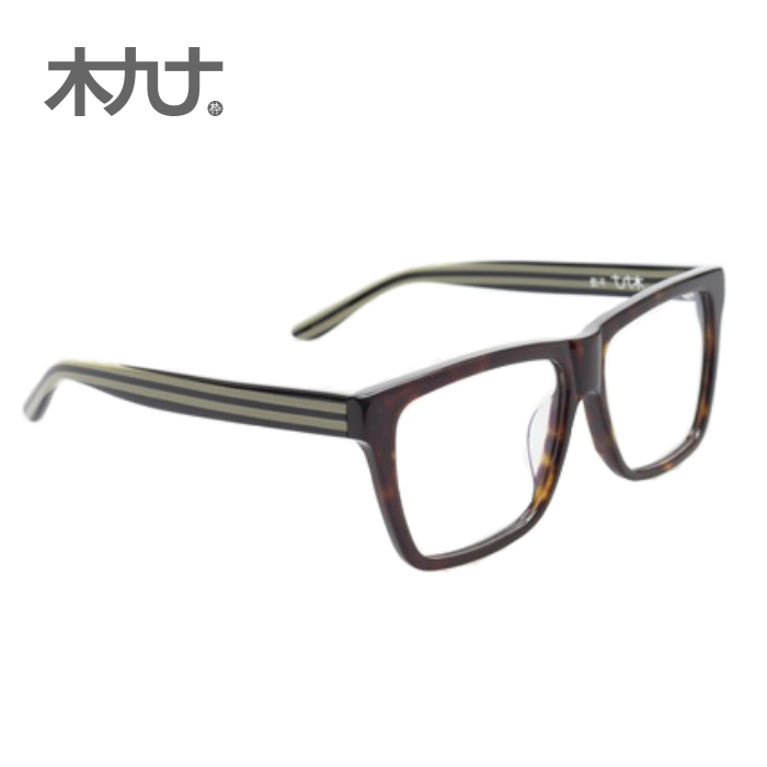 Wood ninety counter genuine 22050b whole hand made retro striped temperament male female glasses frame big box