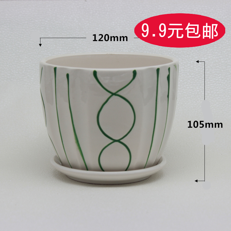 1241 green succulents ceramic pots plastic pots large potted plants flower garden flower creative arts and free postage