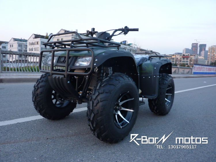 Dual front and rear disc brakes zongshen 250cc water cooled shaft drive with differential camouflage big hummer atv/longding
