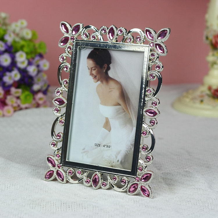 Tqj/6 inch/7 inch euclidian alloy frames/inlay diamond/wedding life according to a rectangular shape Picture frame/t611