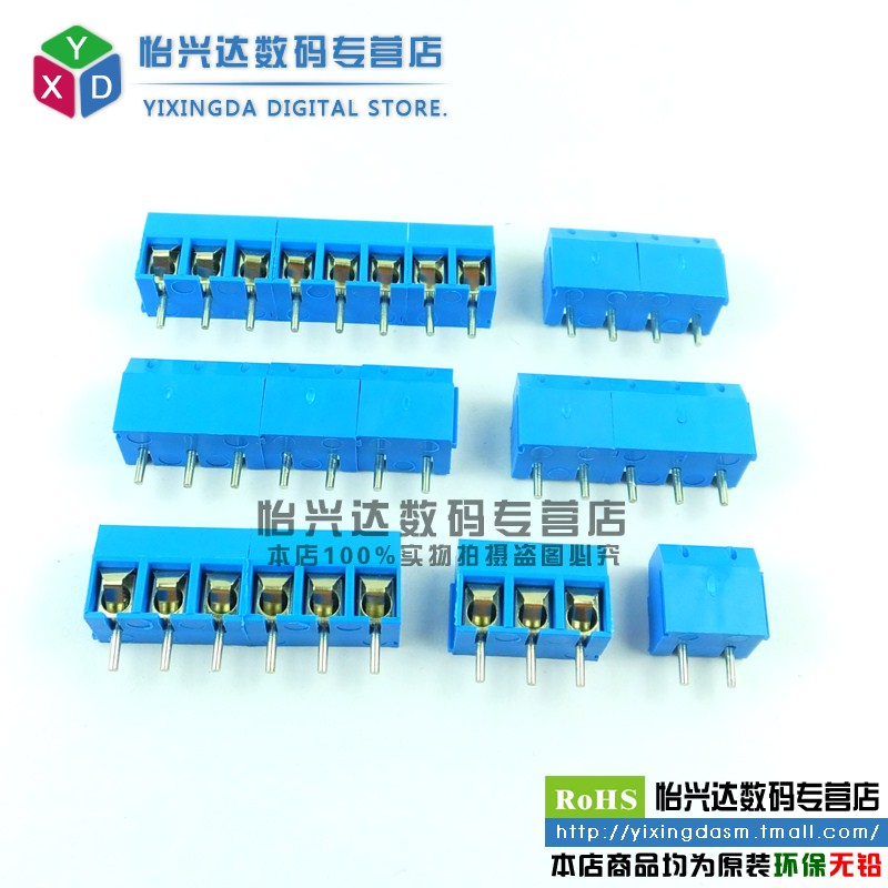 Kf301-2p/3 p/4 p/5 p/6 p-8 p terminal spacing 5.08 Mm can be spliced pcb terminals