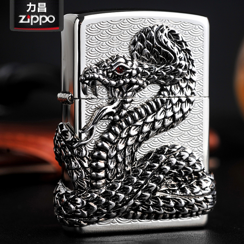 Original genuine zippo lighters genuine zippo windproof surrounded filled zombies rattlers special lighter