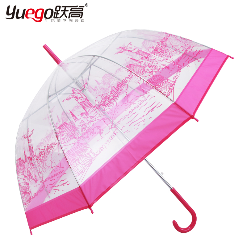 The new high jump straight hook futuroic fashion transparent umbrella transparent umbrella umbrella 1348