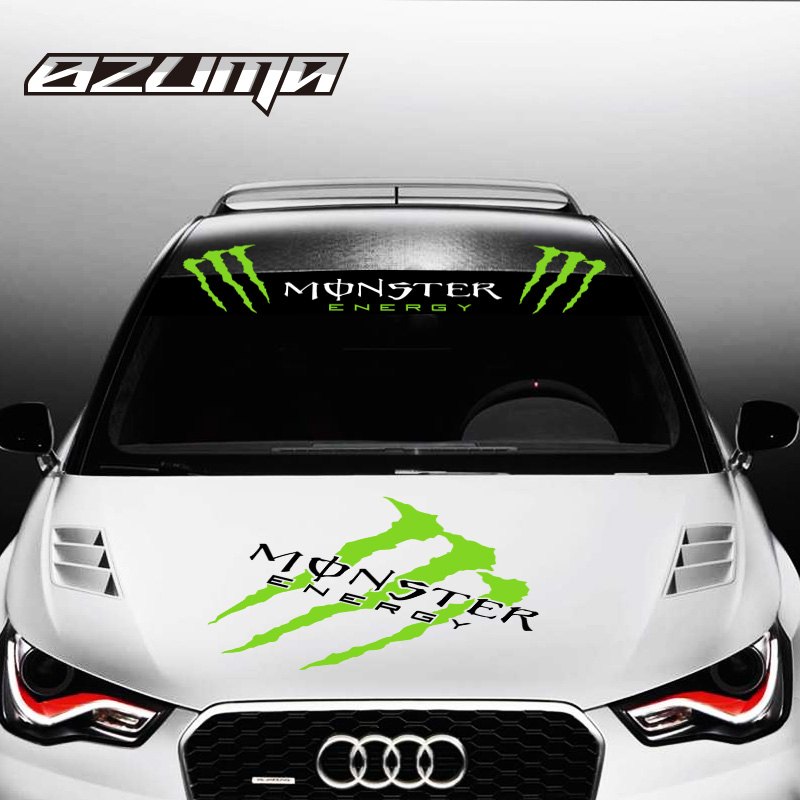 Buy ghostcrawler personality reflective car stickers car stickers front windshield stickers zhaohen monster energy glass stickers car stickers affixed