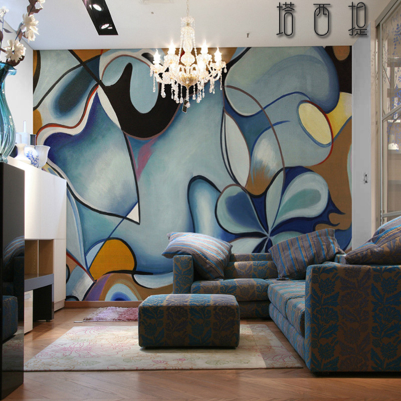 Tahiti space living room sofa bedroom tv background wallpaper nonwoven wallpaper seamless wallpaper mural