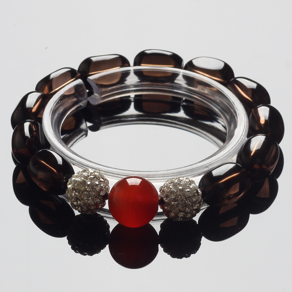 5a grade natural tea crystal bracelet citrine beads diamond jewelry red agate bracelets male and female models