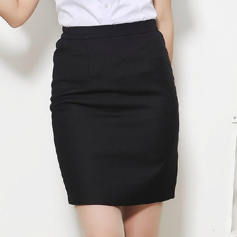 Hotel overalls summer female professional tooling wild black skirt skirts commuter step skirt skirt skirt suit