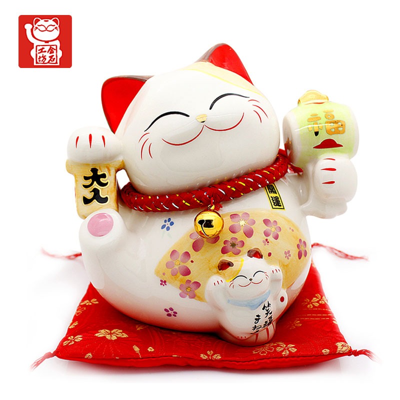 Stone workshop lucky cat ceramic ornaments piggy bank opened shop home birthday gift ideas new home occupation