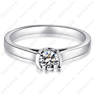 Tang autumn 20 points nvjie pt950 platinum diamond ring authentic vs ij color diamond ring specials