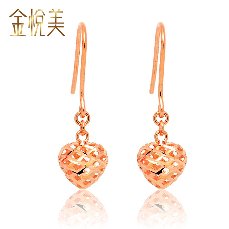 Kim wyatt us pure love k gold earrings rose gold earrings k gold ear hook ear hanging female models platinum