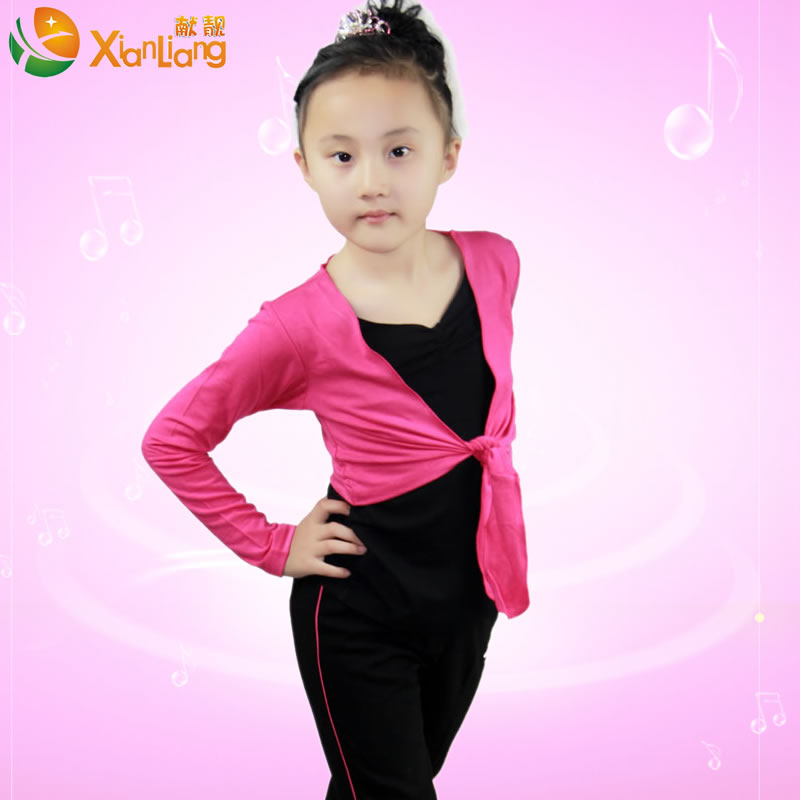 Xian liang child latin dance clothes and dance clothing suits spring and autumn new long game clothing practice suit