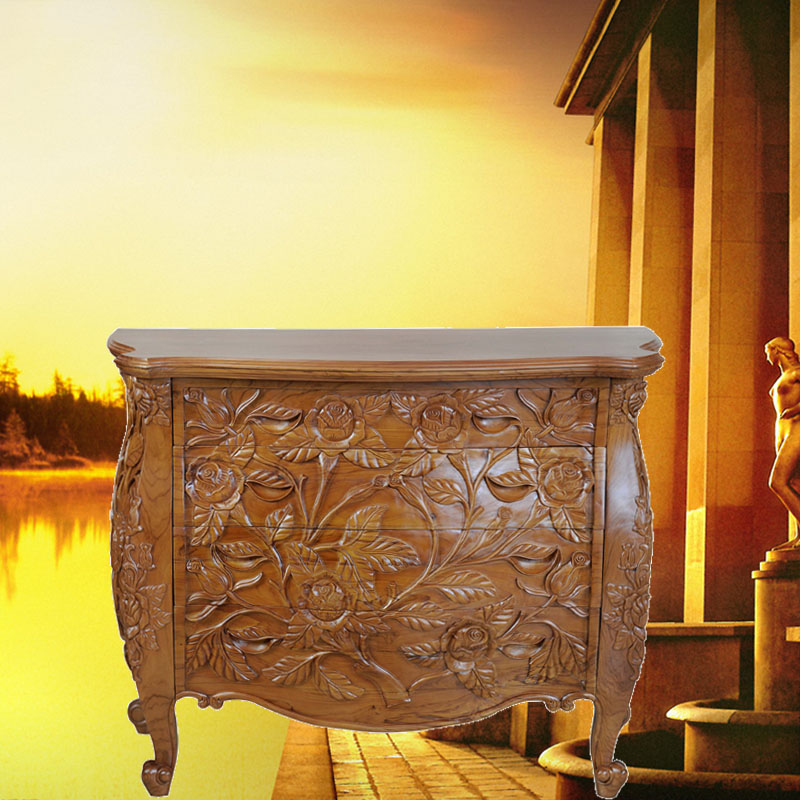 Emperor pomelo large rose golden teak wood chest of drawers drawers four drawers chest of drawers continental furniture teak wood chest of drawers chest of drawers