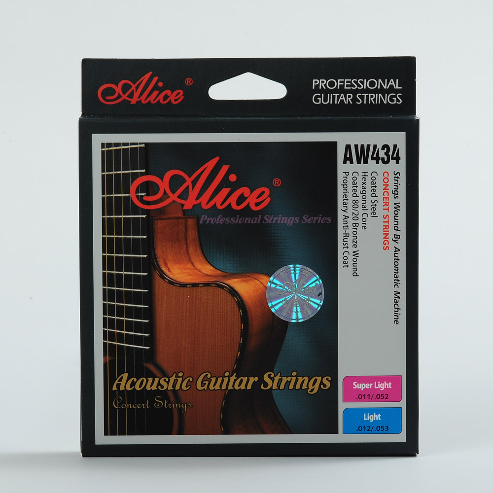 Alice alice wooden folk guitar strings guitar string sets A434-SL gold-plated bead head