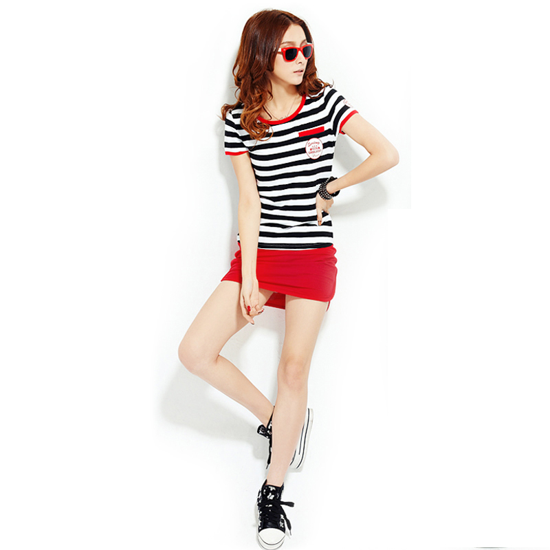 Ms. a word skirt summer sportswear xl slim korean ol step skirt suit skirt suit leisure