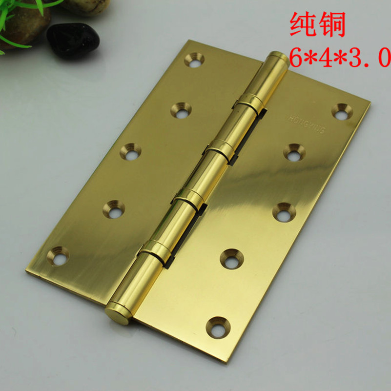 Germany hung ying 6 inch widening thickening really bright gold copper hinge door hinge ball bearing mute solid wood doors