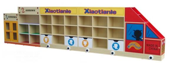 Children's toy cabinet storage cabinet cabinet nursery toys combination of solid wood cabinet finishing kindergarten