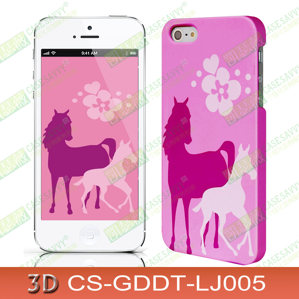 Apple phone shell iphone6/6 s plus4/3d mobile phone shell protective sleeve 5s samsung s5 note4 new year of the horse