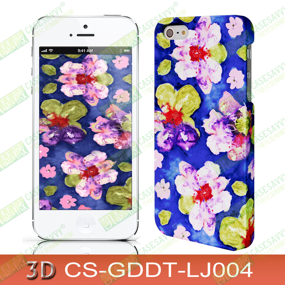 Apple iphone6/6 s plus/5s samsung s5/note4/3d thermal transfer phone shell protection Sets shell