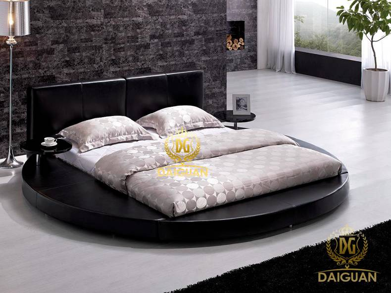 Daiguan roolls round bed round bed modern minimalist fashion leather double bed 1.8 m marriage bed xdpc08