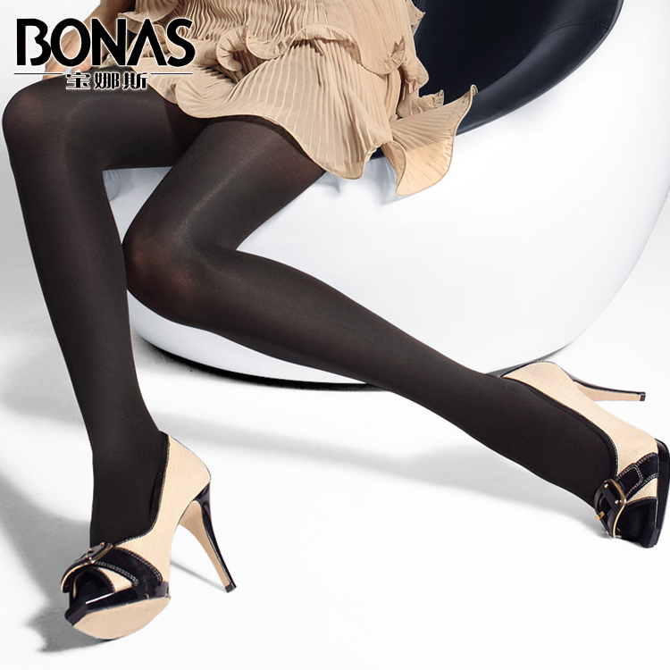 Po lady new black winter 1200d thick autumn and winter special thick velvet female thick pantyhose stockings plus crotch increase