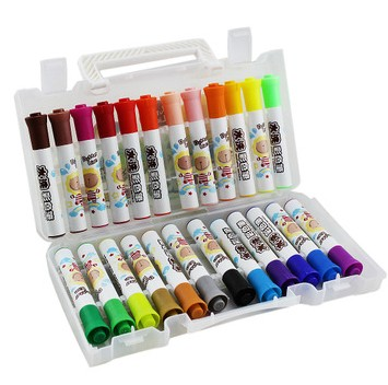 Crown lion watercolor pen 24 color washable watercolor pen 36 color children brush pen easy to wash