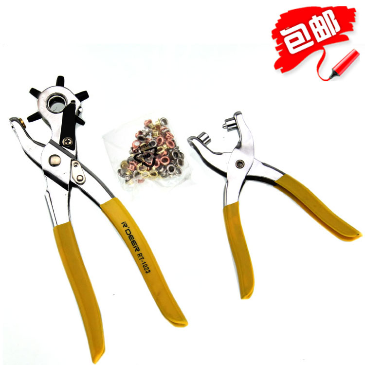 Part of the free shipping flying deer leather belt punch pliers belt punch belt punch eyelet pliers