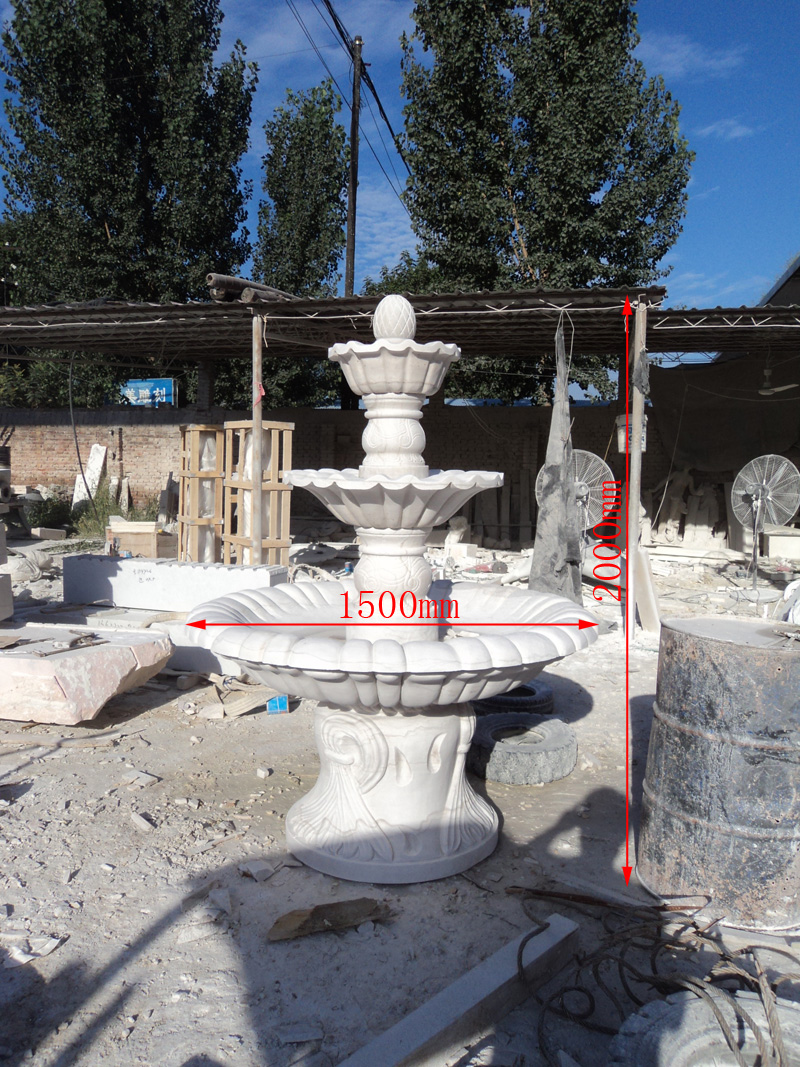 [Sculpture]鸿拓household water fountain garden fountain garden fountain marble fountain euclidian HTS008