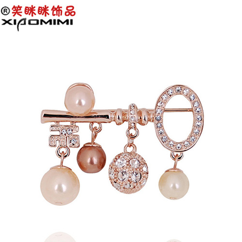 Deaming keychain crystal rhinestone brooch korean female corsage brooch pin collar pin korean jewelry 605557