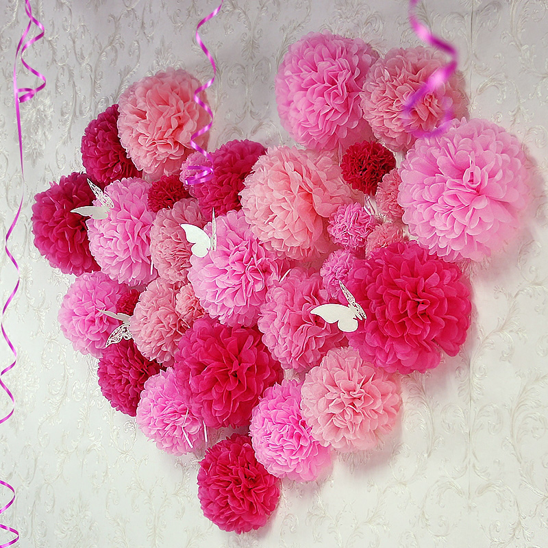 15cm paper flower ball wedding supplies paper garlands wedding birthday party wedding marriage room cloth home window decoration