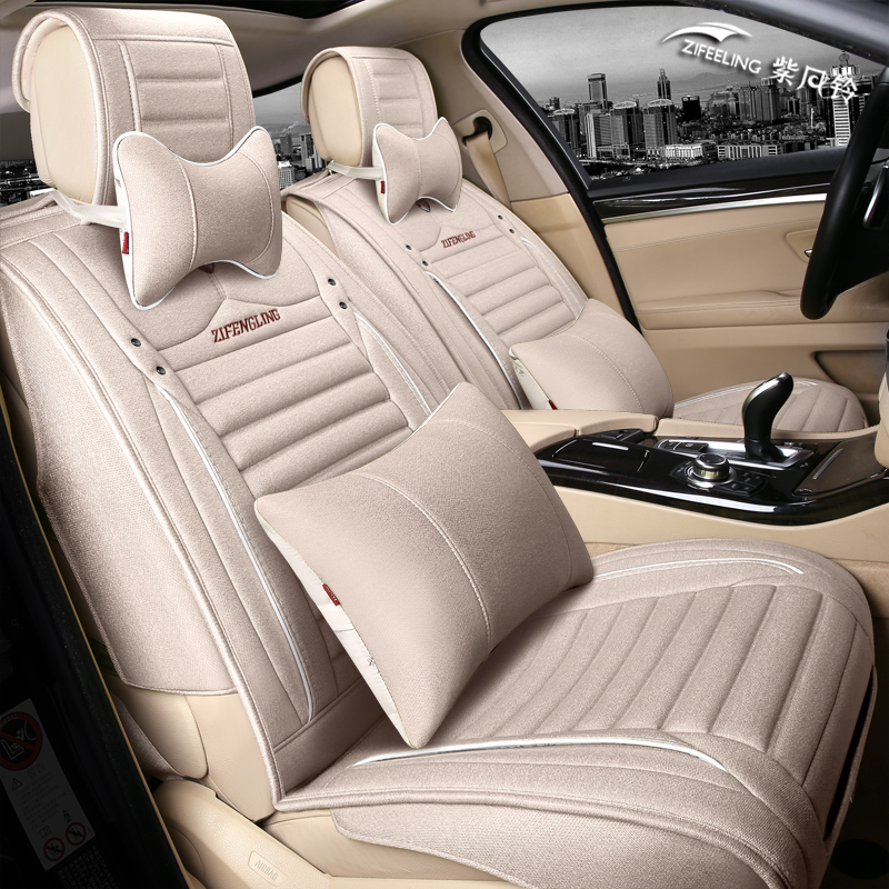 16 new flax four seasons general car seat volkswagen cc tiguan magotan sagitar ling crossing the whole package seat cover