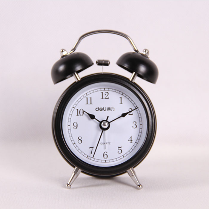 Deli 9024 2.5 inch lazy luminous silent alarm clock electronic clock