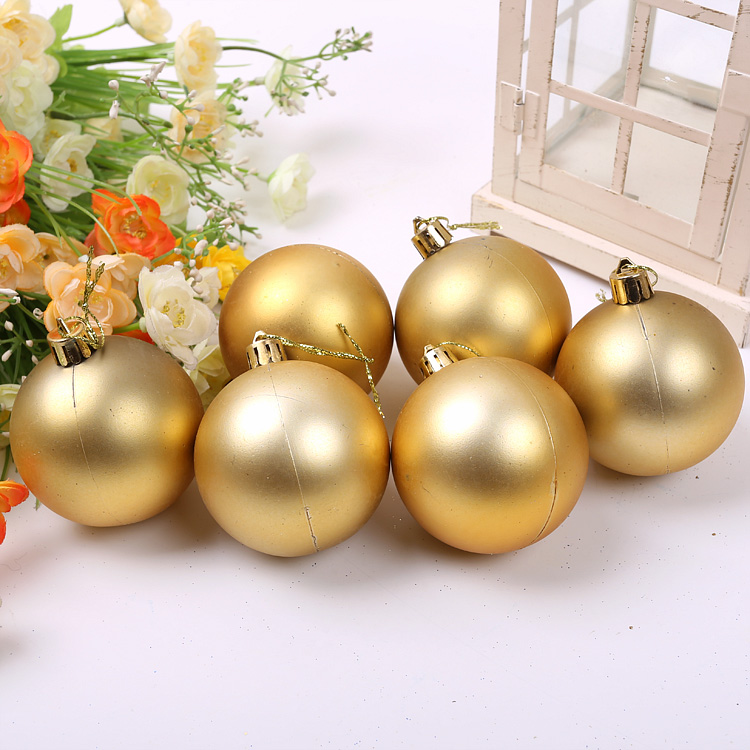 Qixuan christmas ball christmas decoration christmas supplies christmas tree ornaments 6CM christmas balls matt