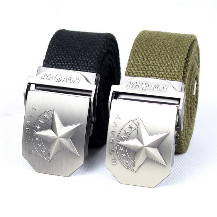 Military wild line of outdoor men army fans usnavy equipment fashion for men and women weave canvas belt star models