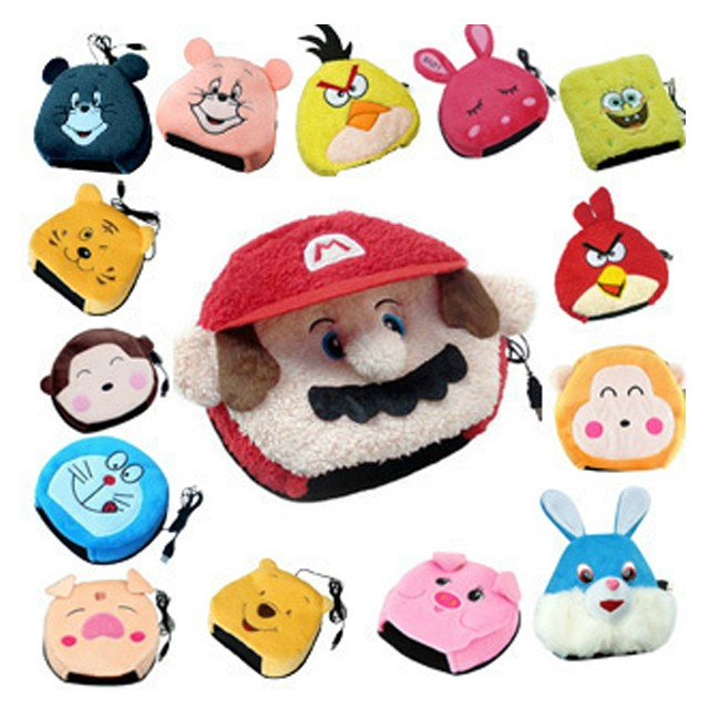 Spring laugh genuine usb warm mouse pad computer cartoon gloves wrist pad hand warmer bao bao heating heating specials
