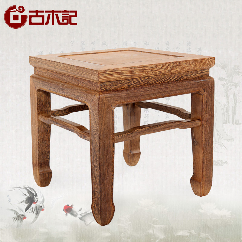 Environmentally friendly custom wood mahogany furniture wenge small square stool stool in the ming and qing classical style antique mahogany stool