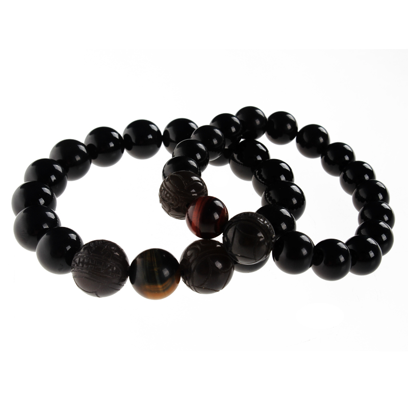 Poly edge court of feng shui natural rainbow obsidian eye bracelet brave female models male models couple bracelet bracelets lucky