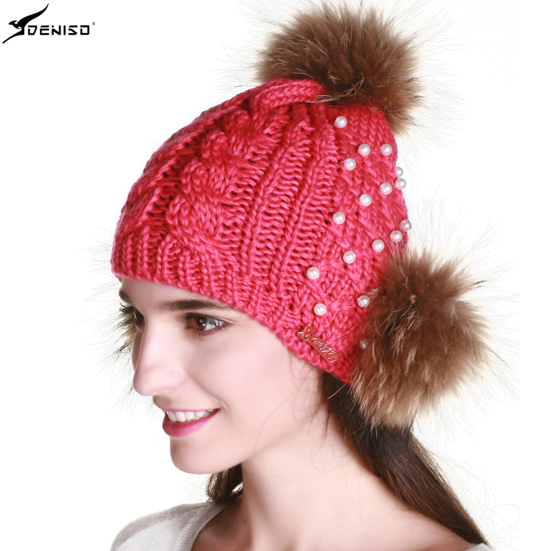 Deniso hat female korean tidal winter hat knitted hat warm wool hat knitted hat shaped DS-1228