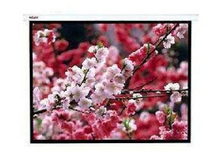 Yimu 4:3 wall electric projector screen white plastic 84 inch