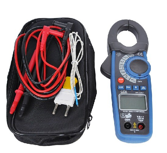 Many provinces shipping everbest cem ac-dc digital clamp meter 1000a professional forcipated table DT-3347