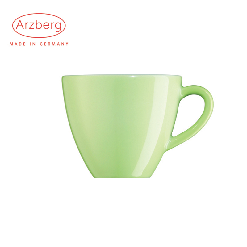 Germany imported european porcelain fort arzberg cycleâproject series solid grass green porcelain ceramic coffee cup 200 ml