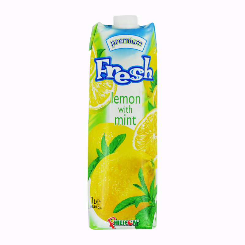 [Lynx supermarket] bulgaria imports of pure fruit juice drinks 1l fresh fresh lemon fen