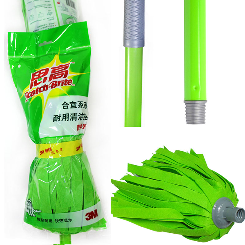 [Lynx supermarket] 3 m scotch decent series durable mop to clean the 1 to send the replacement head 1 100个
