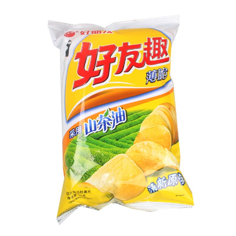 [Supermarket] lynx orion friends fun sliced potato chips (fresh flavor) 75g/packet