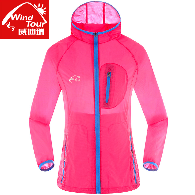 Wei dirui outdoor spring and summer sunscreen skin coat male tide female super lightweight breathable wicking sun protection clothing lovers