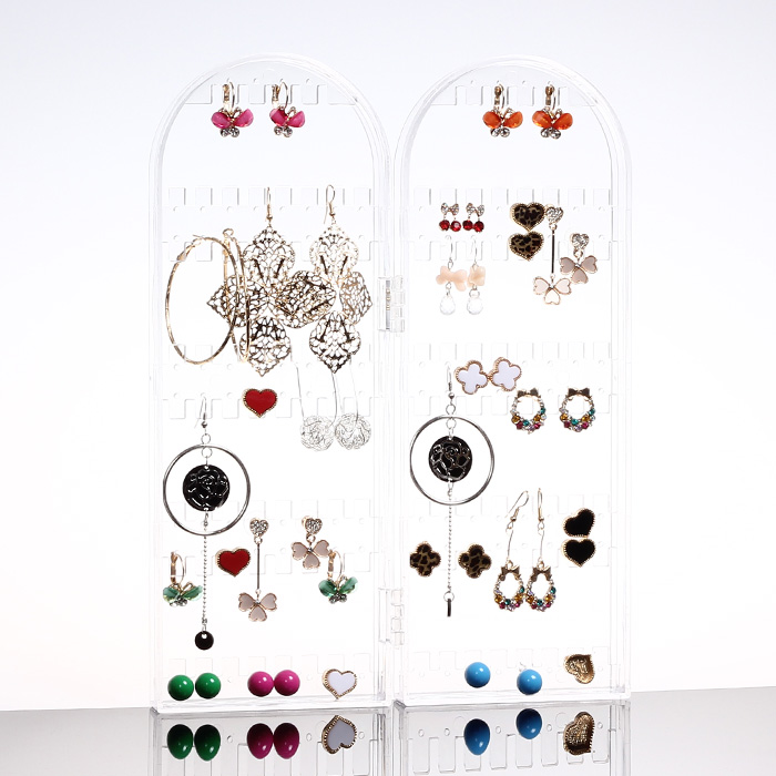 Princess jewelry holder jewelry display rack necklace bracelet earrings korea earrings hanging rack rack rack foldable