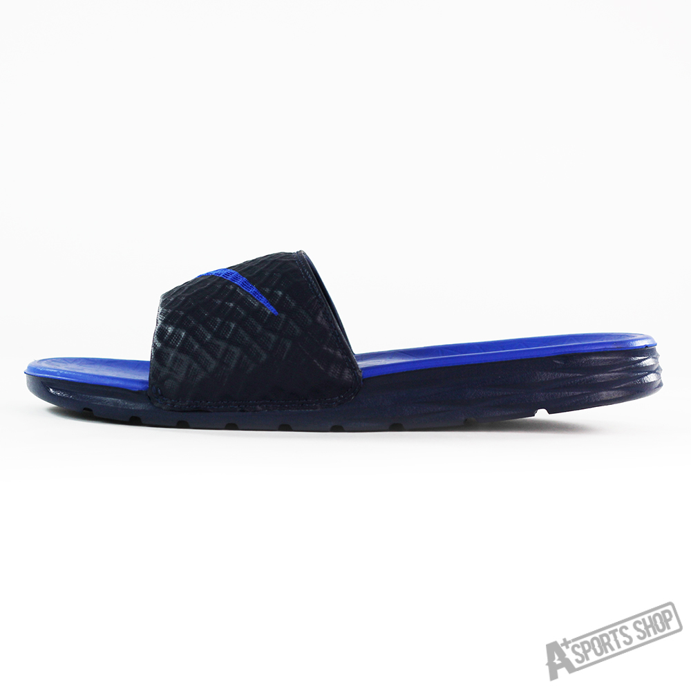 Men's nike benassi solarsoft slippers blue-705474440