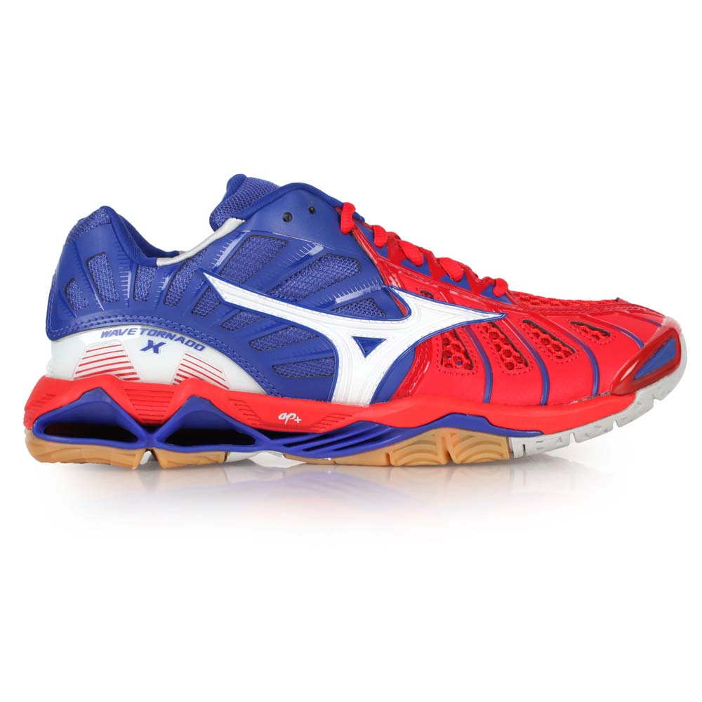 Buy Mizuno wave tornado x mens volleyball shoes blue red and